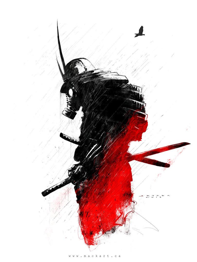 Mack sztaba samurai sketch 2
