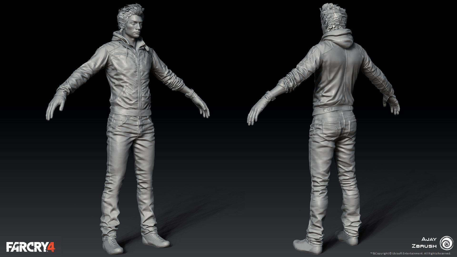Finalized Zbrush body *Head finalized by Ed Hardison