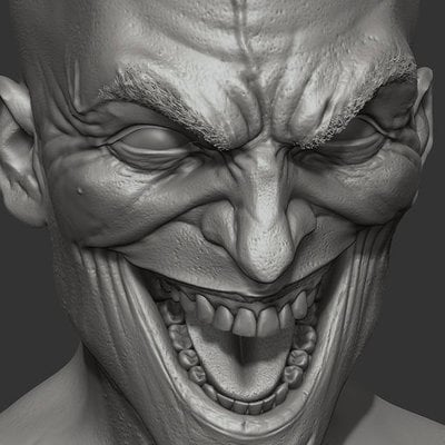 David giraud joker face wip 01