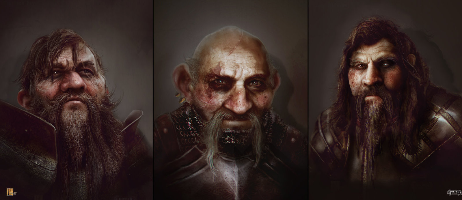 Dwarf Concepts for Snow White and Skilled Huntsmen