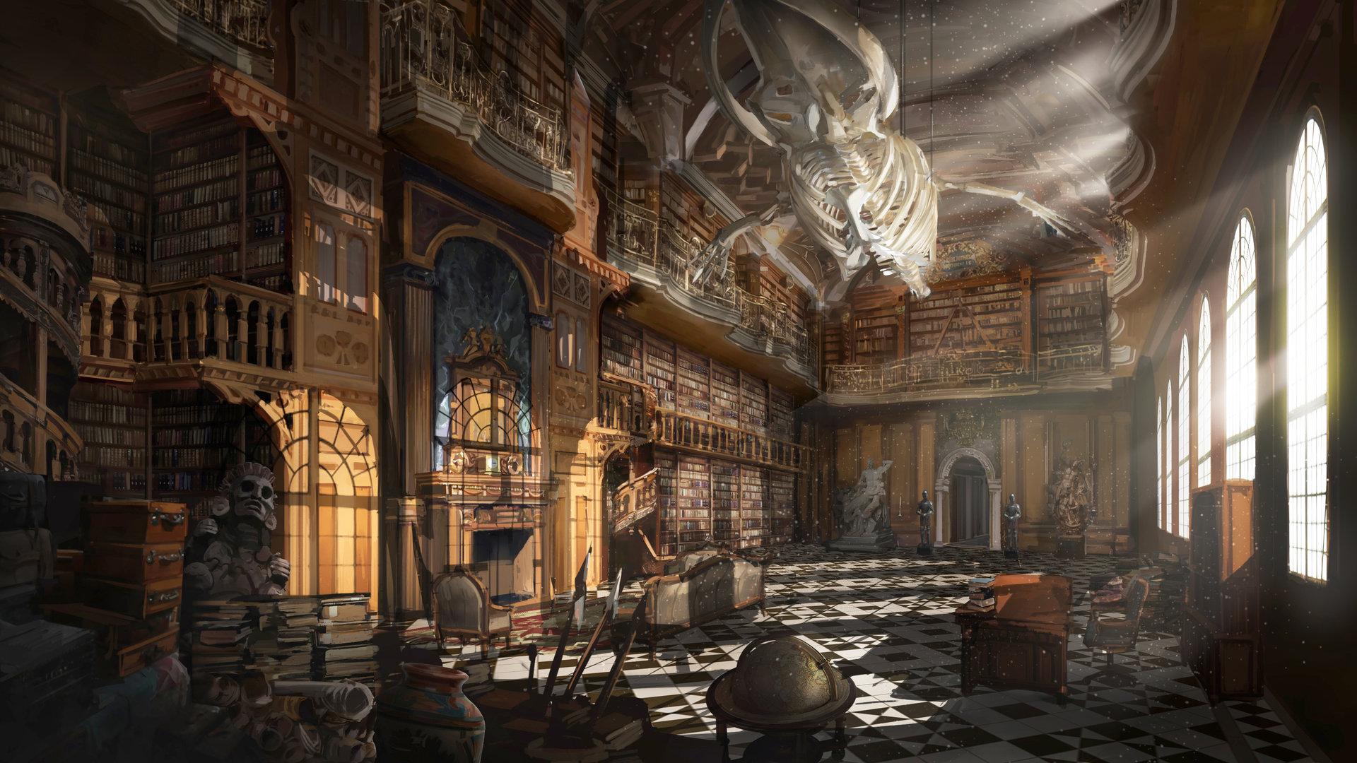 Artstation Grand Library Tj Foo
