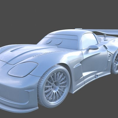 Gameloft - Jeff Gorvette high-poly for Cars iOS