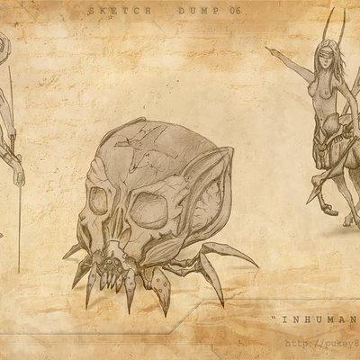 Igor puskaric sketch dump 06 inhuman by pukey82 d5u1h2b