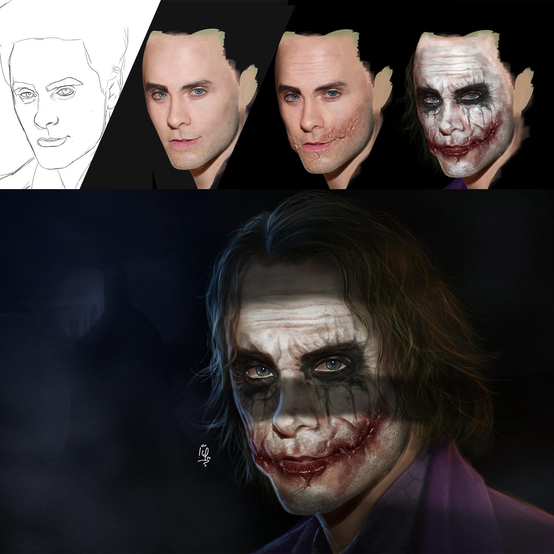 Joker Concept Art Jared Leto Joker