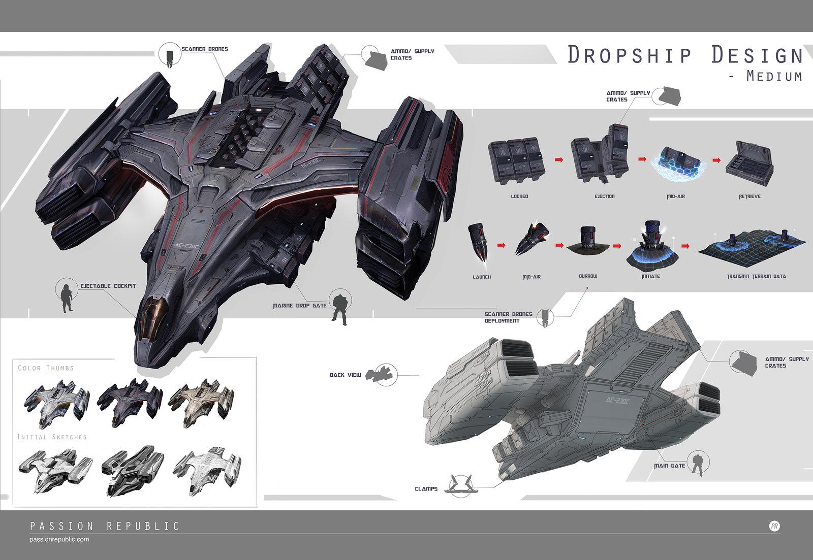 Dropships exploration