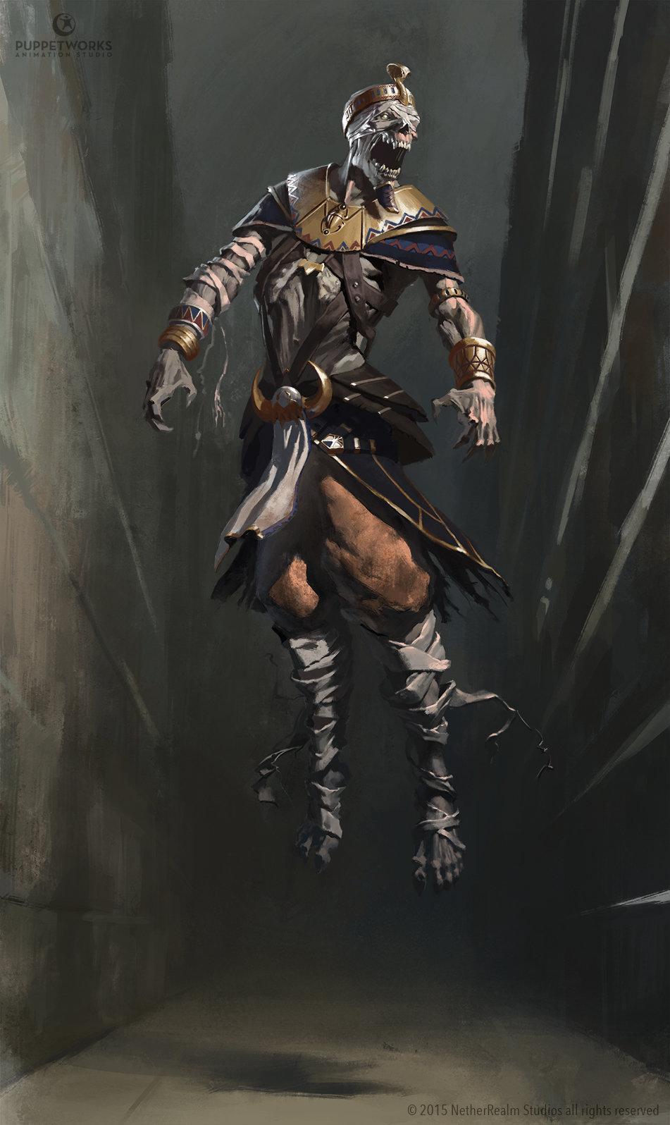 Artstation Mortal Kombat X Pharaoh Ermac Aron Elekes