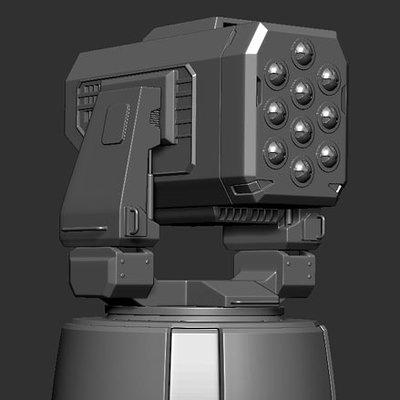 Yuxdesign jesus garcia yuxdesign missile turrent hard surface modelling
