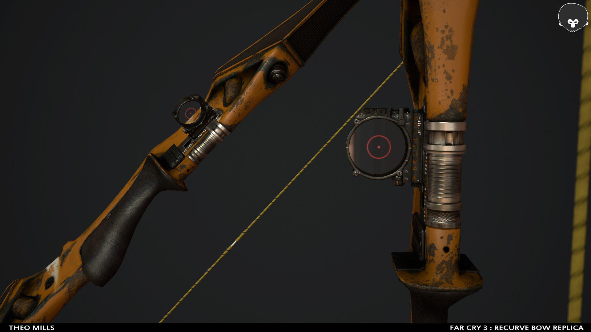 Artstation Far Cry 3 Recurve Bow Replica Theo Mills