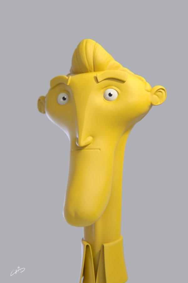 Clay cartoon head