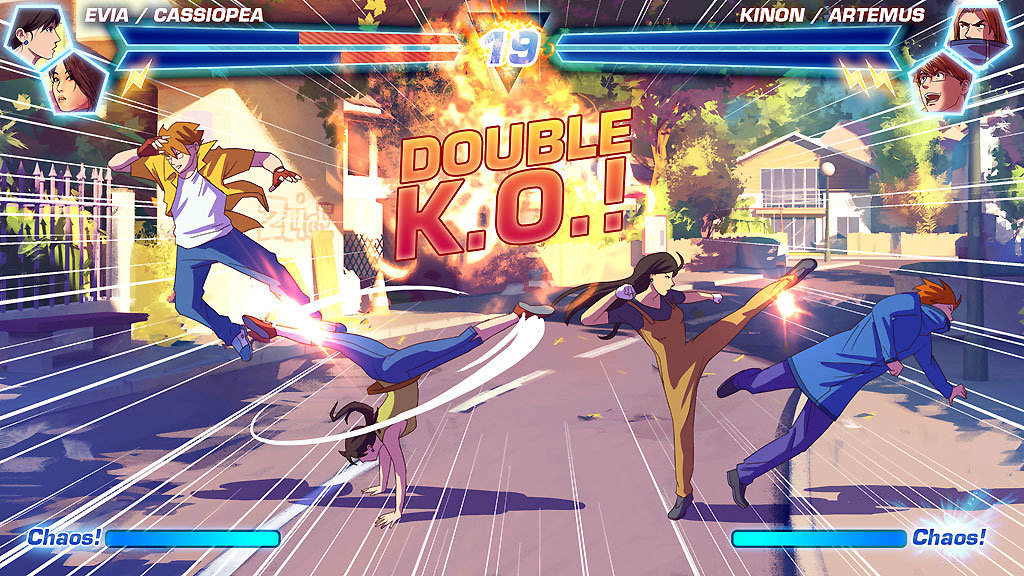 Fake fighting game