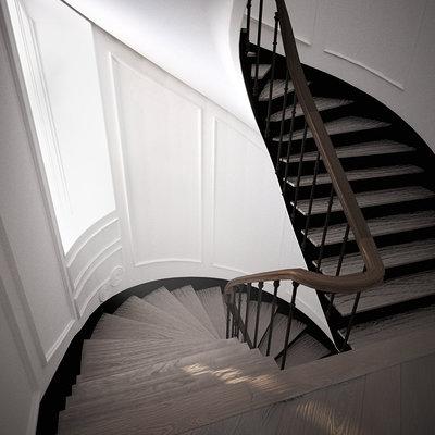 Oscar tranque escaleras madera interior final