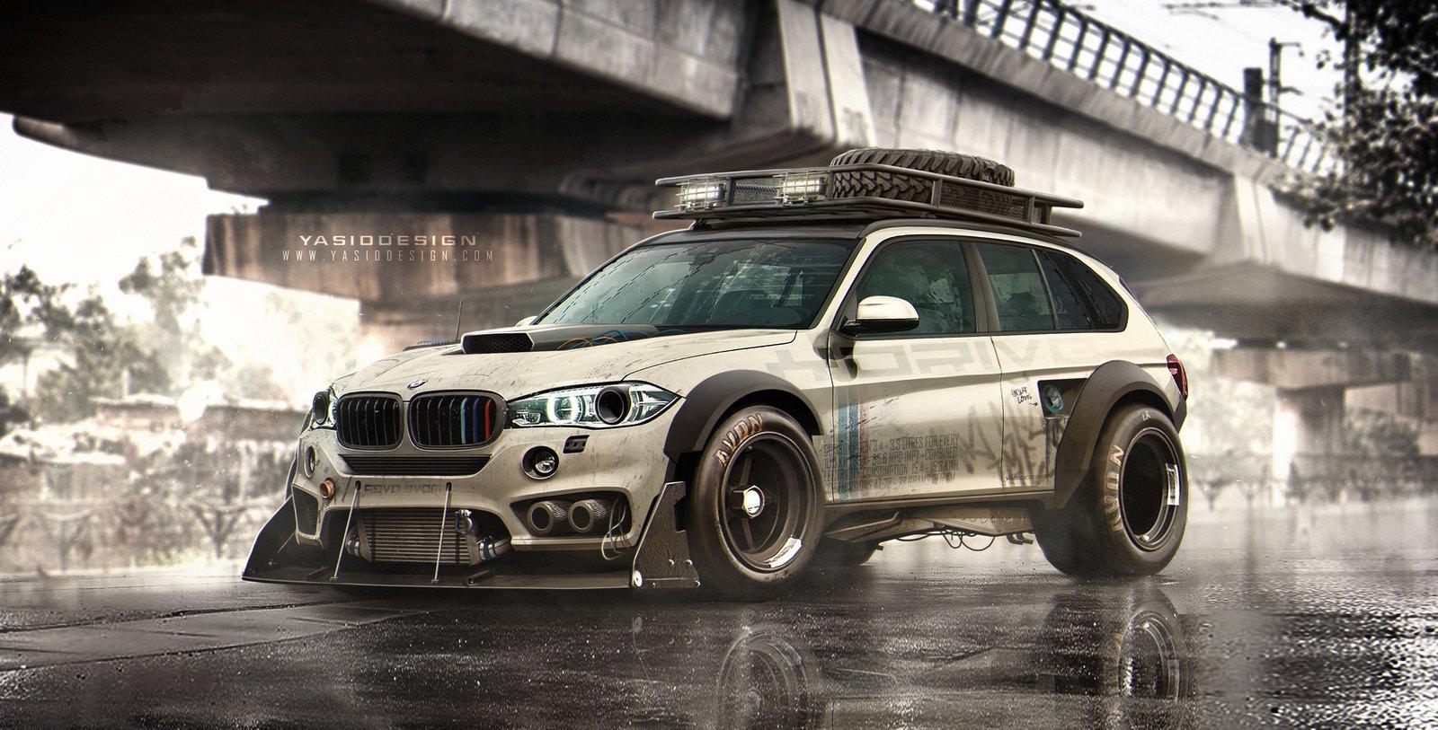 BMW X5 Drive _ Post apocalyptic urban