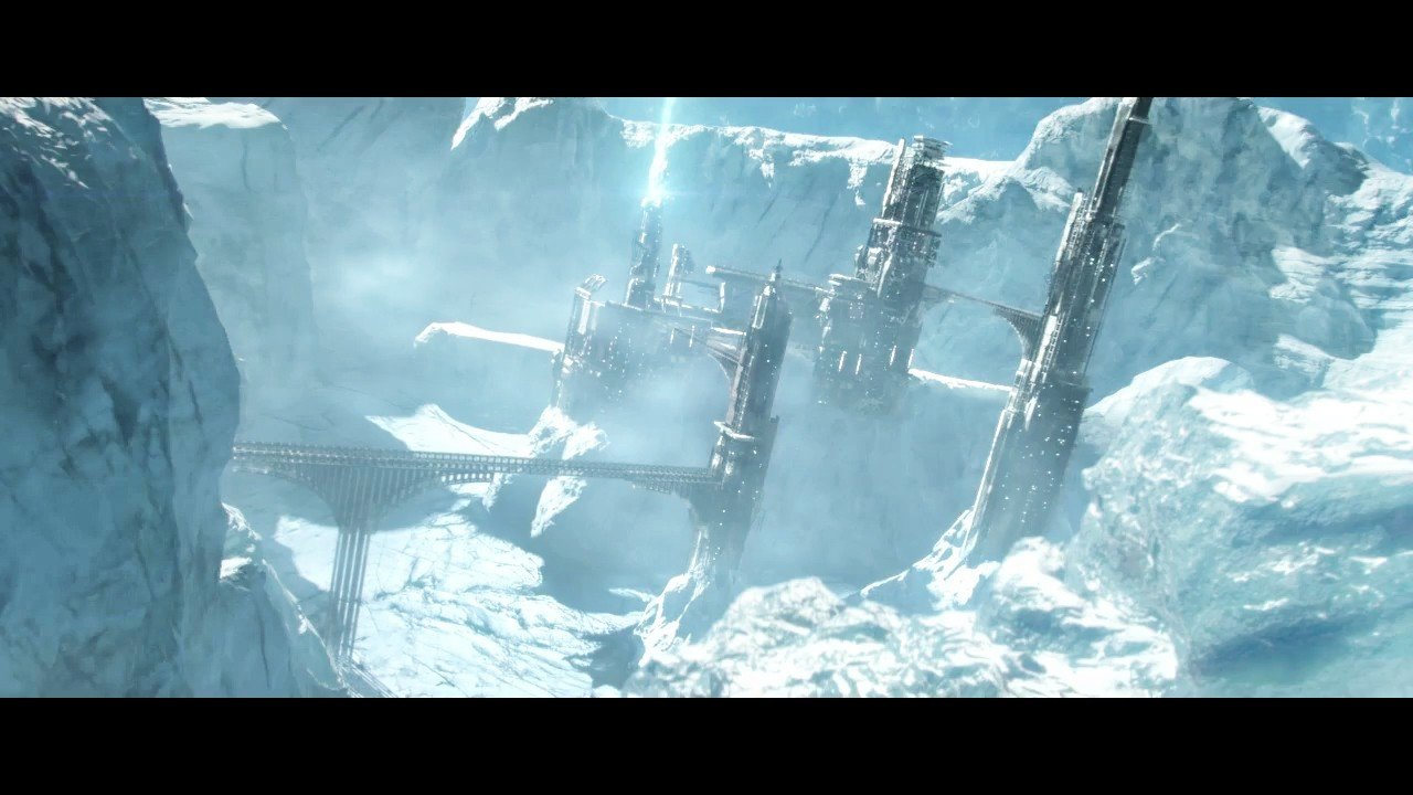 Sci Fi station / Establishing shot. In charge of full mattepainting, modelling, texturing, lighting, fx, compositing