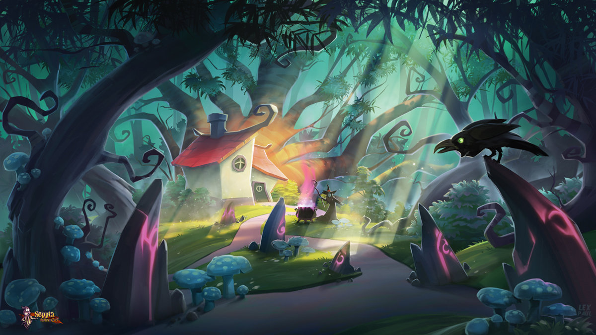 Artstation Enchanted Forest Alexandrescu Paul V