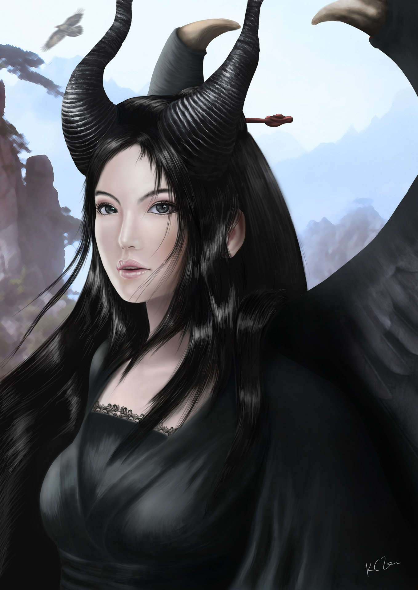 Artstation Character Rendering Fan Art Maleficent