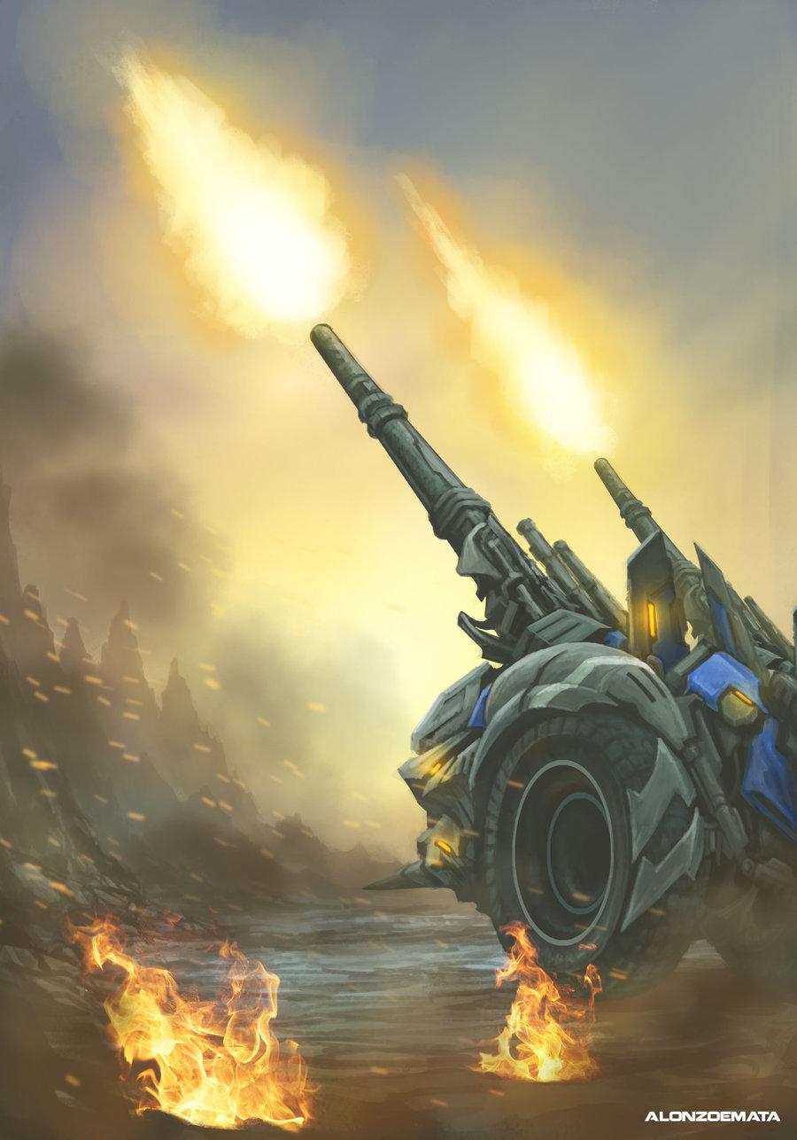 Alonzo emata futuristic mortar cannon by adriellem d7arwz4