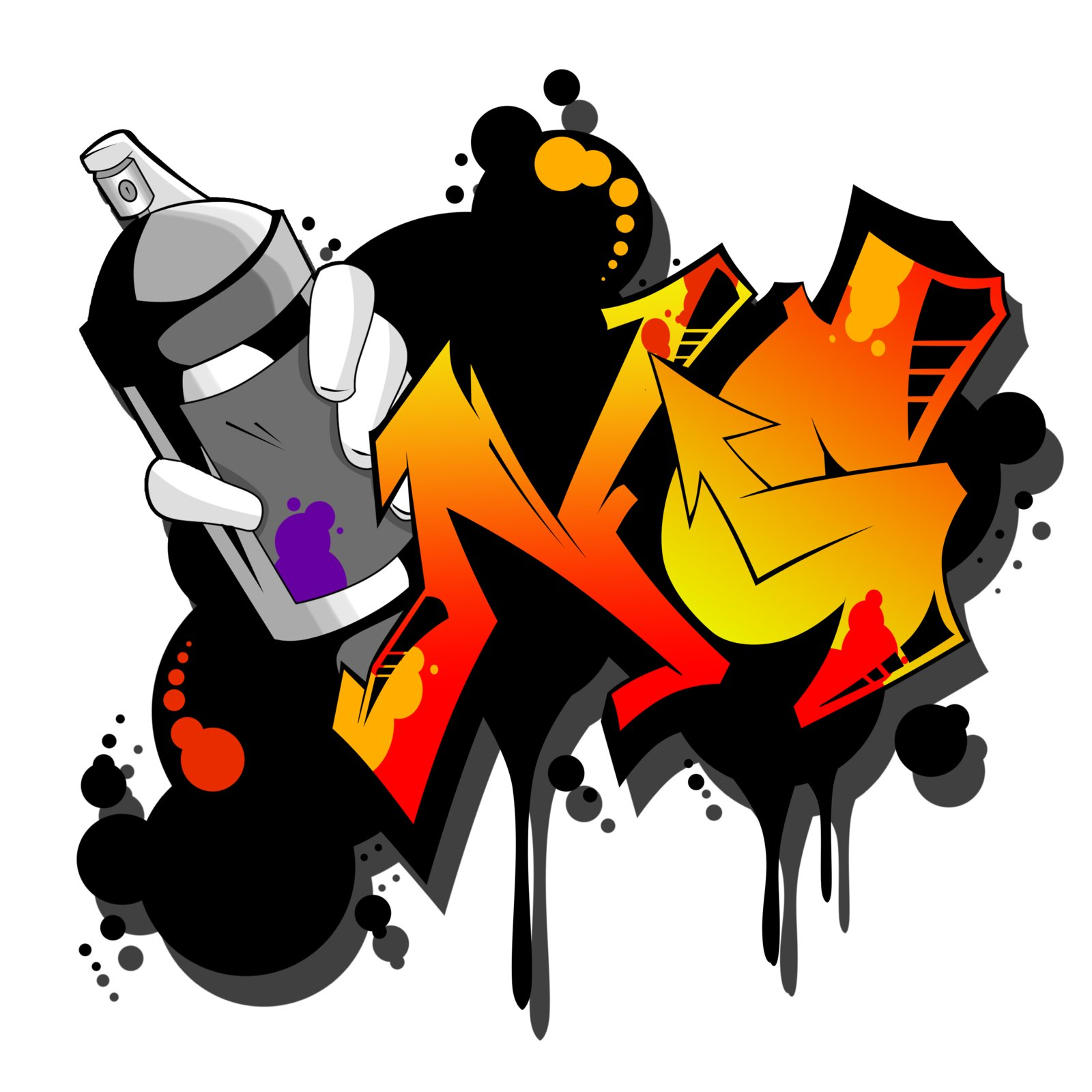 Alternate logo to the Notorious Graffiti clothing line. Something a little more complex and loud.