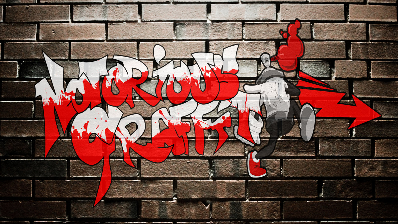 A banner used on multiple occasions for Notorious Graffiti