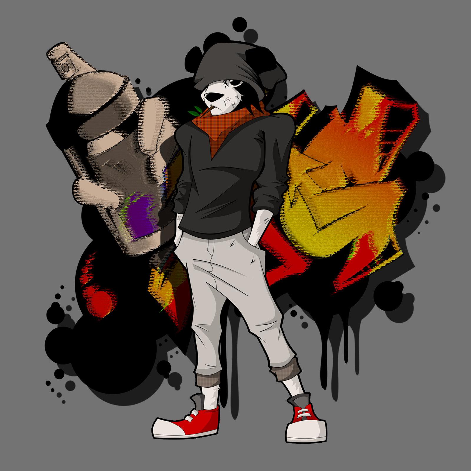 Same panda, different clothes.