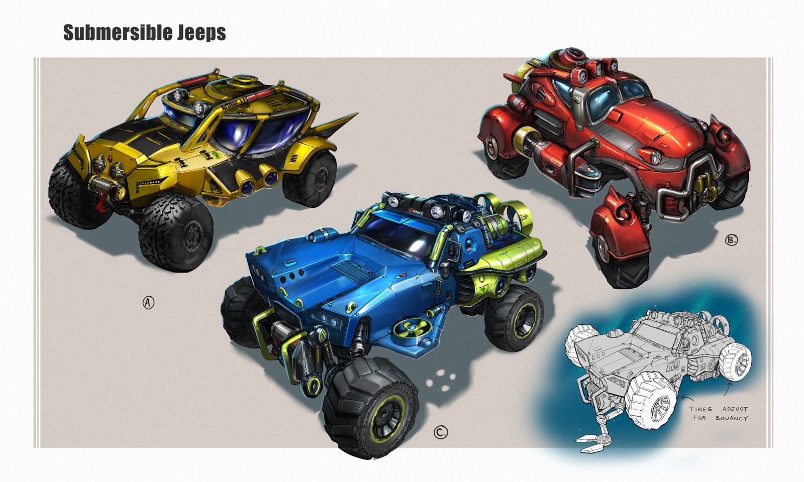 Brandon jones submersible jeeps color