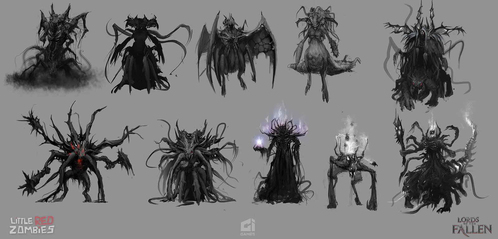Demon thumbnail Sketches - Lords of the Fallen