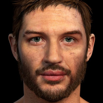 Game res Tom Hardy bust done for Fallout New Vegas mod