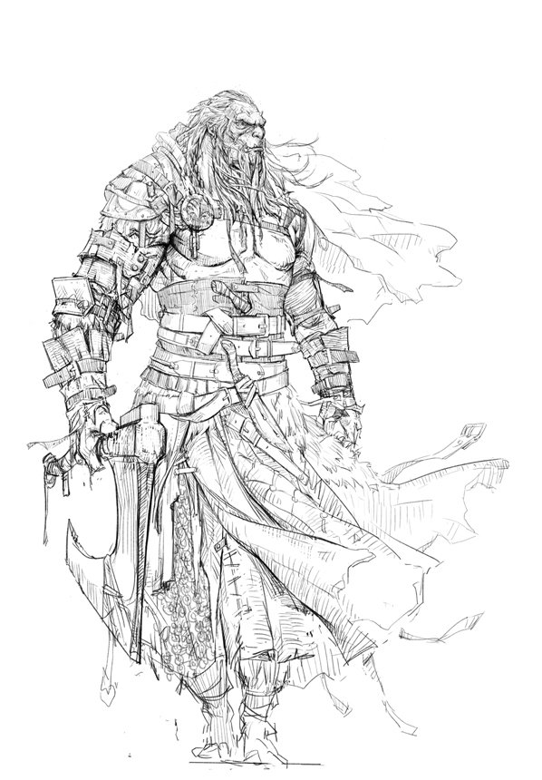 sketch orc