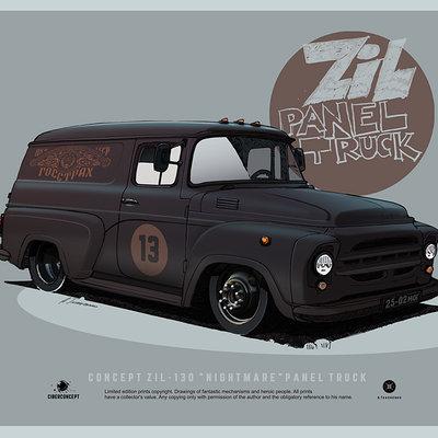 Andrey tkachenko zil panel truck 130
