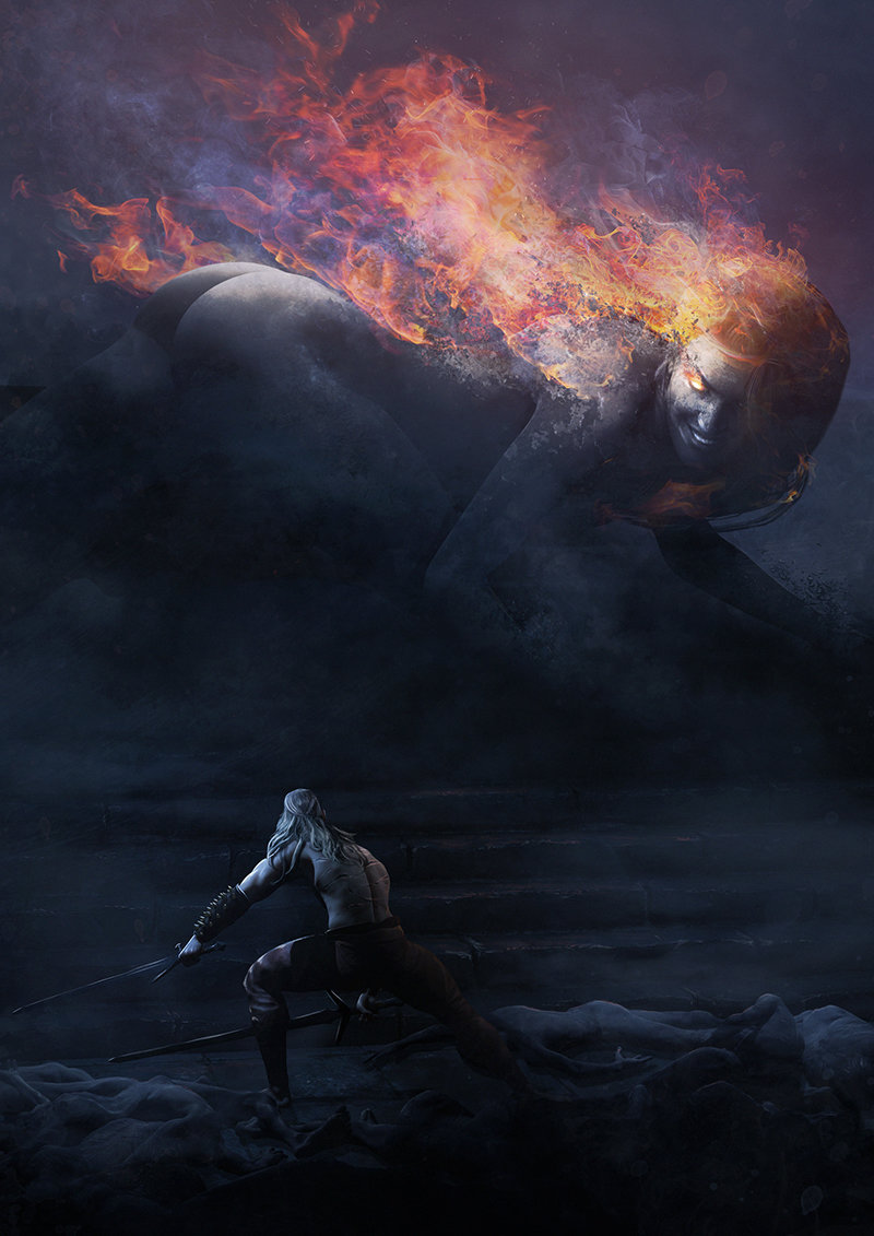 Geralt of Rivia vs the Phoenix Witch