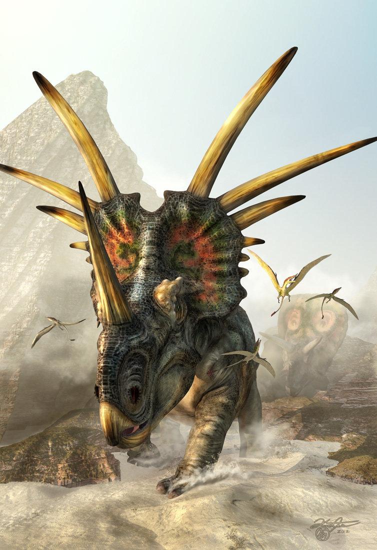 Kurt miller prehistoricspikes styracosaurus