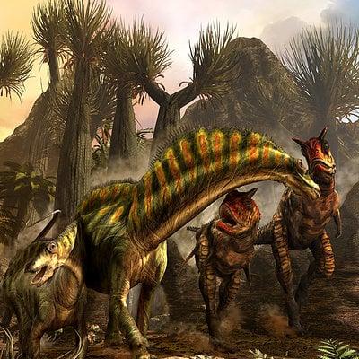Kurt miller carnotaurusattackingamargasaurus