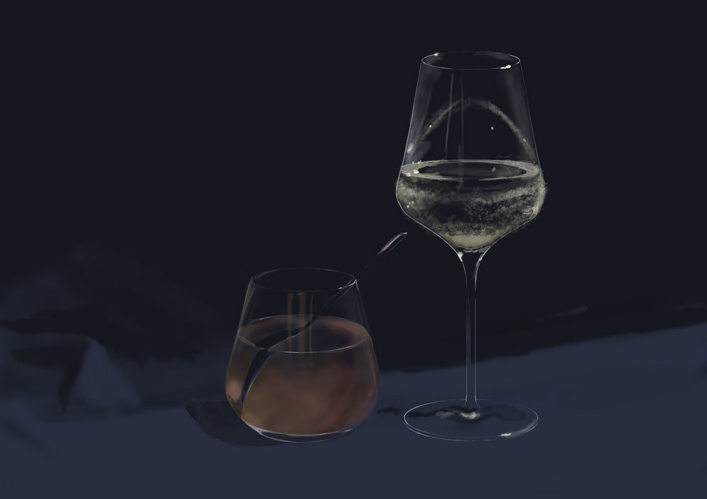 Agnes swart glasses water sirup