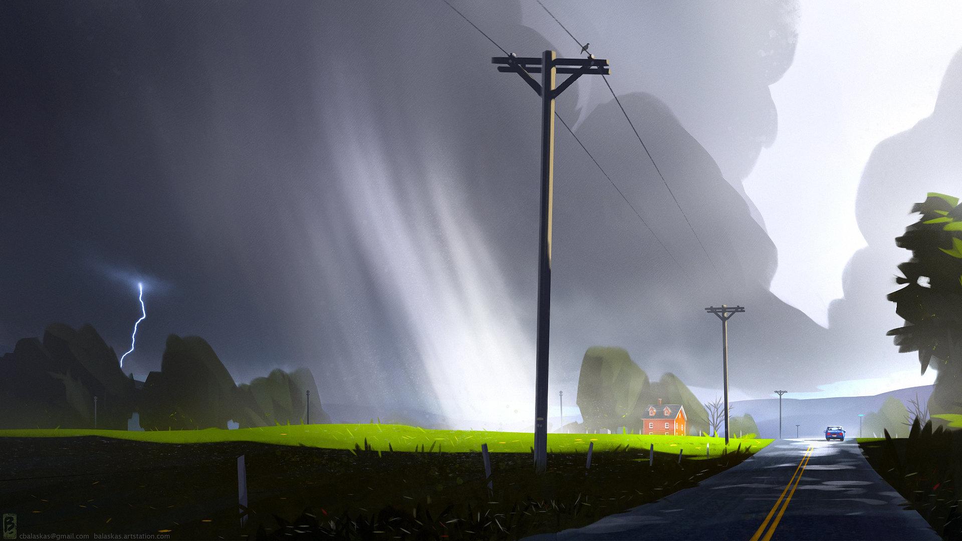 Christopher balaskas stormy road as