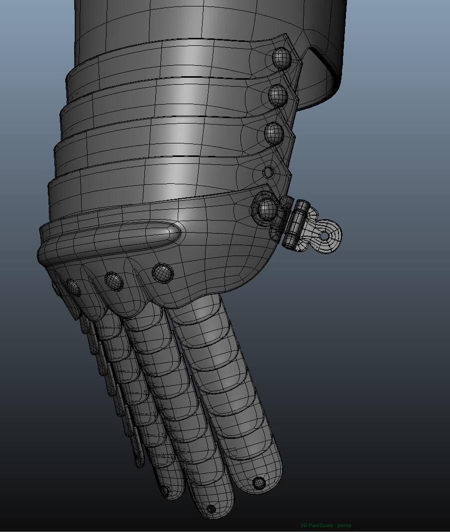 Modeling the gauntlet/ wireframe