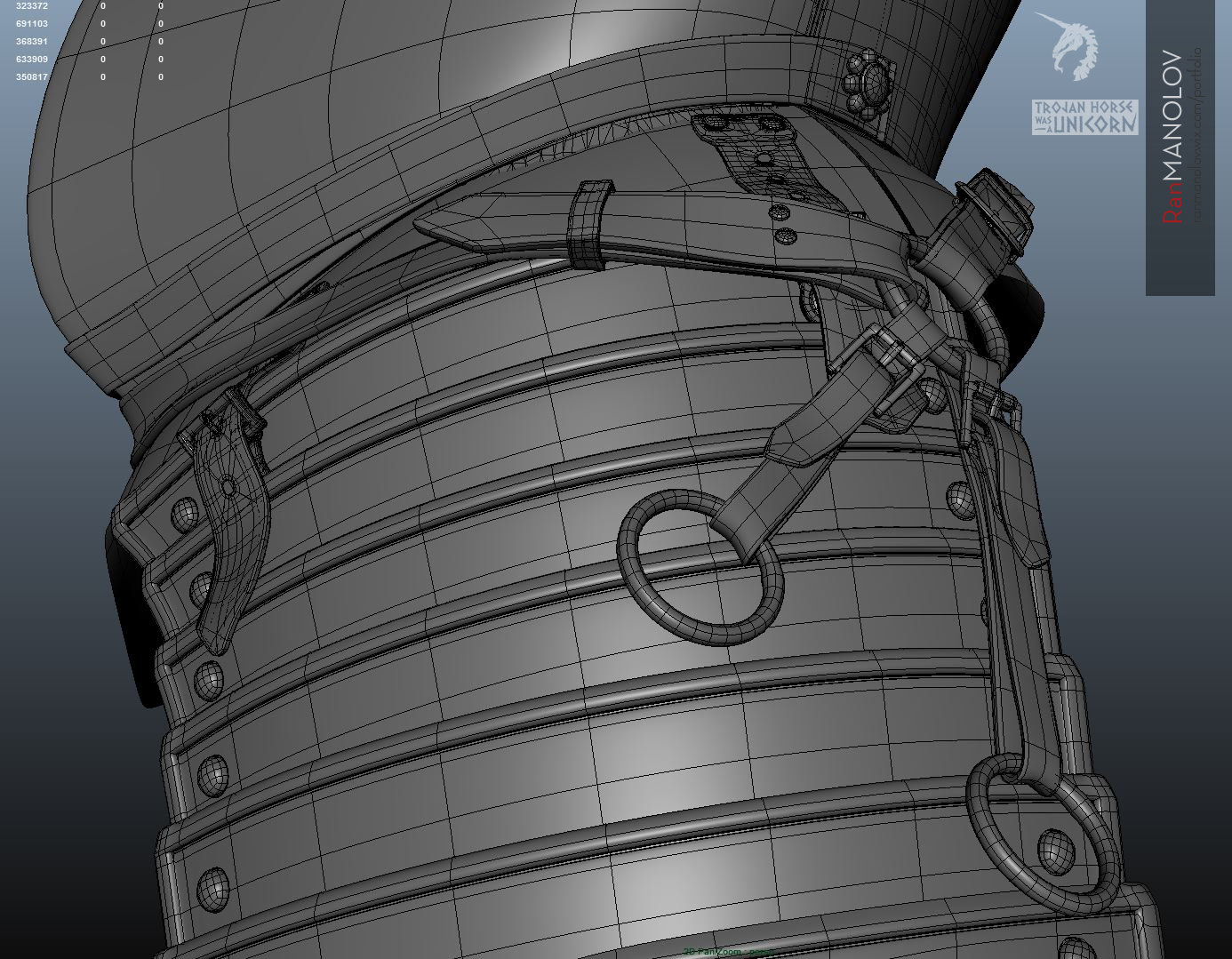 Modeling the armor/ wireframe