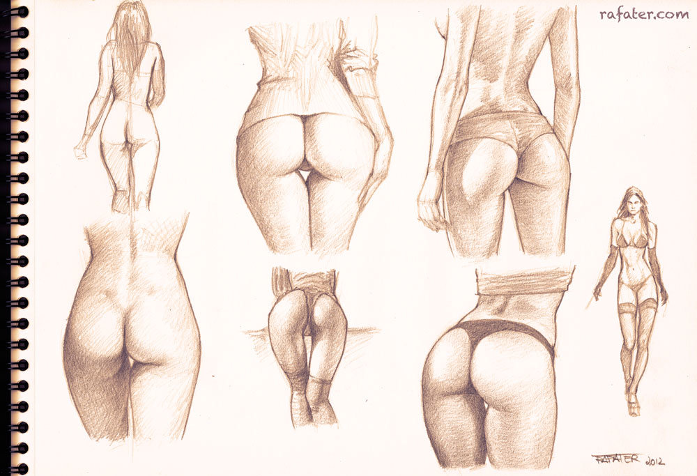 ArtStation - Anatomy studies - pencil drawing, Rafael Teruel