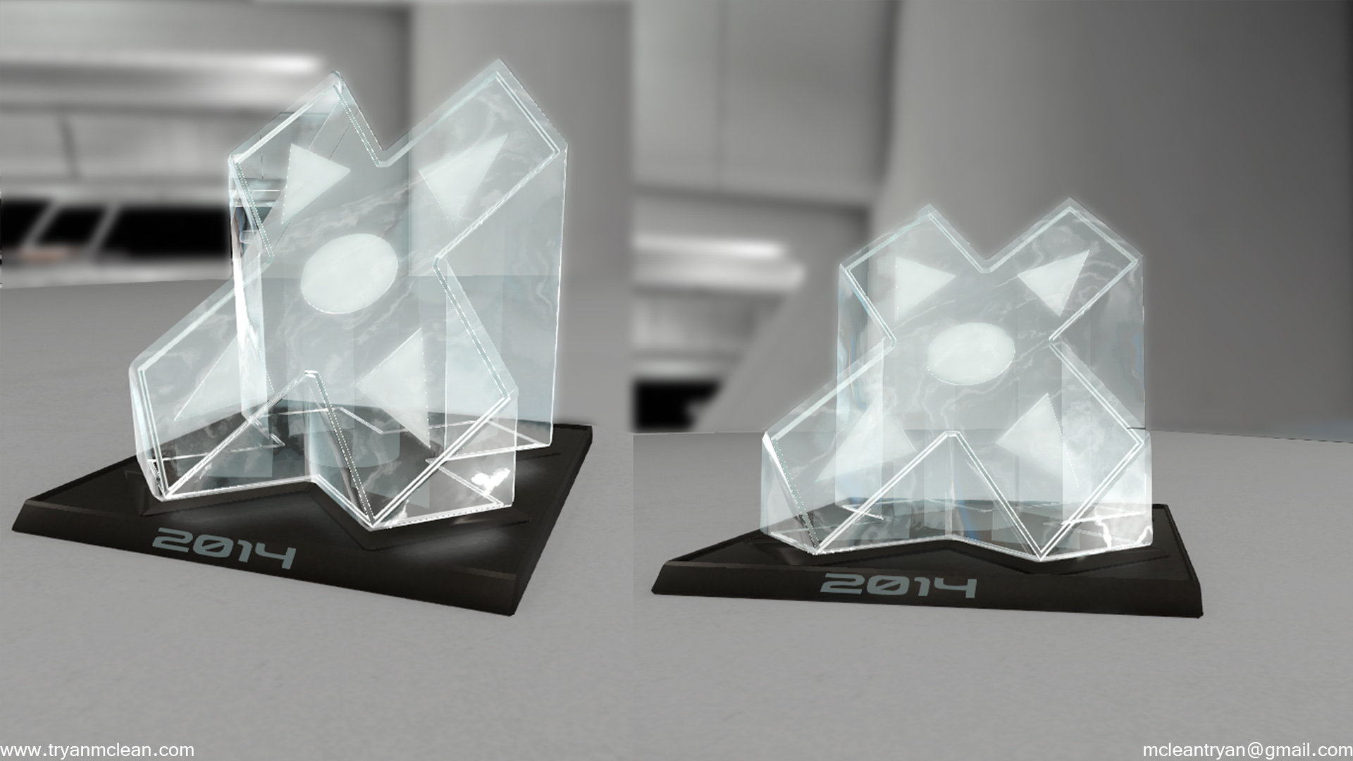 Star Citizen Subscriber Flair Trophy. Modelling by myself, material by myself.