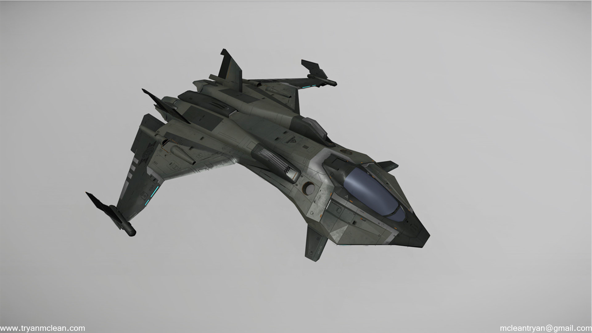 Star Citizen Subscriber Flair Model Ship. Modelling by my, down res from in game model. Textures by CIG Austin.