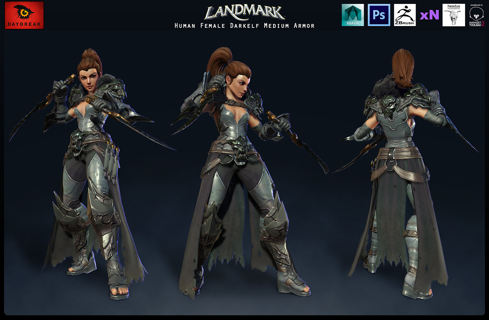Human Female Darkelf Medium Armor