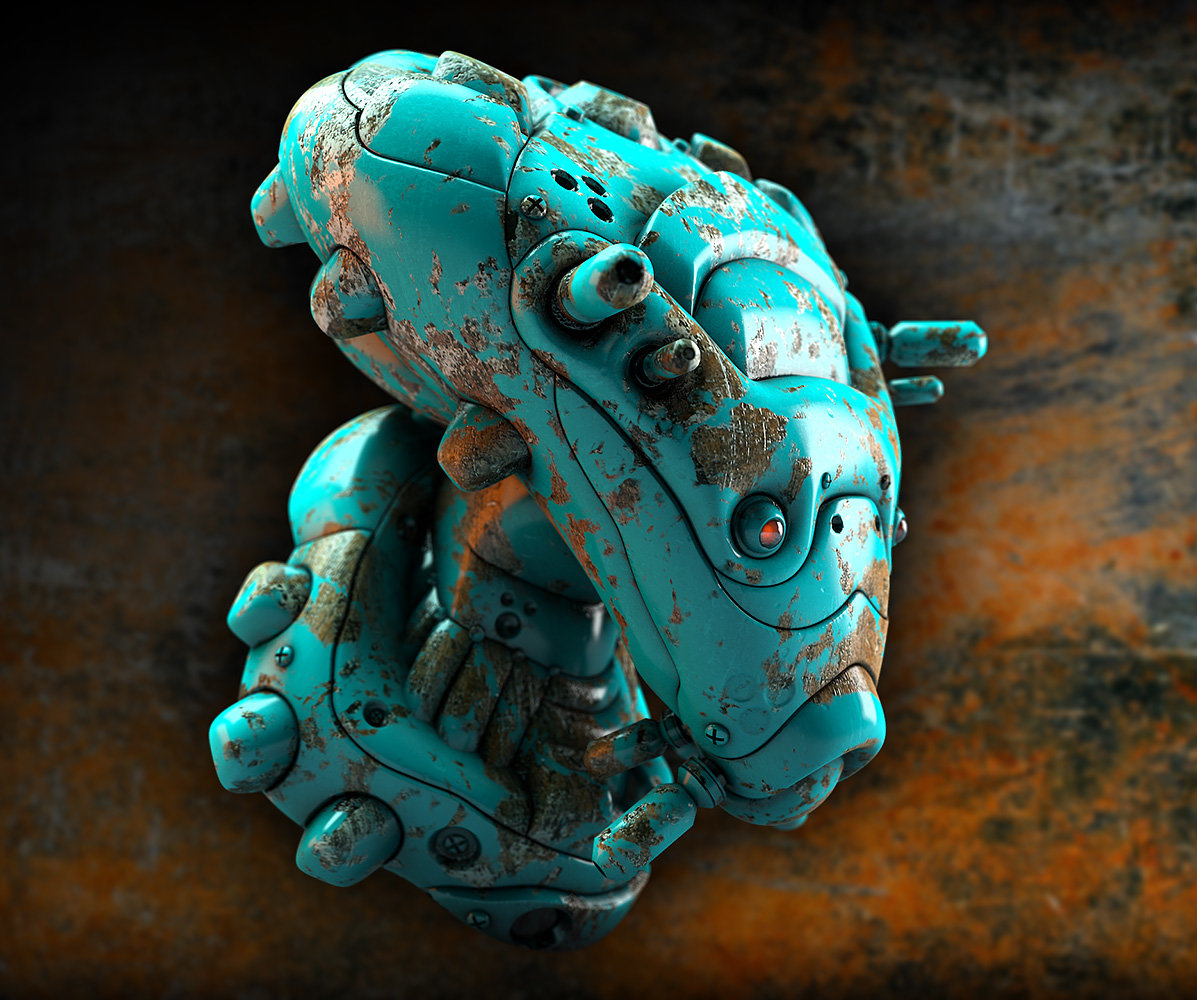 Mike robinson blue dead robot