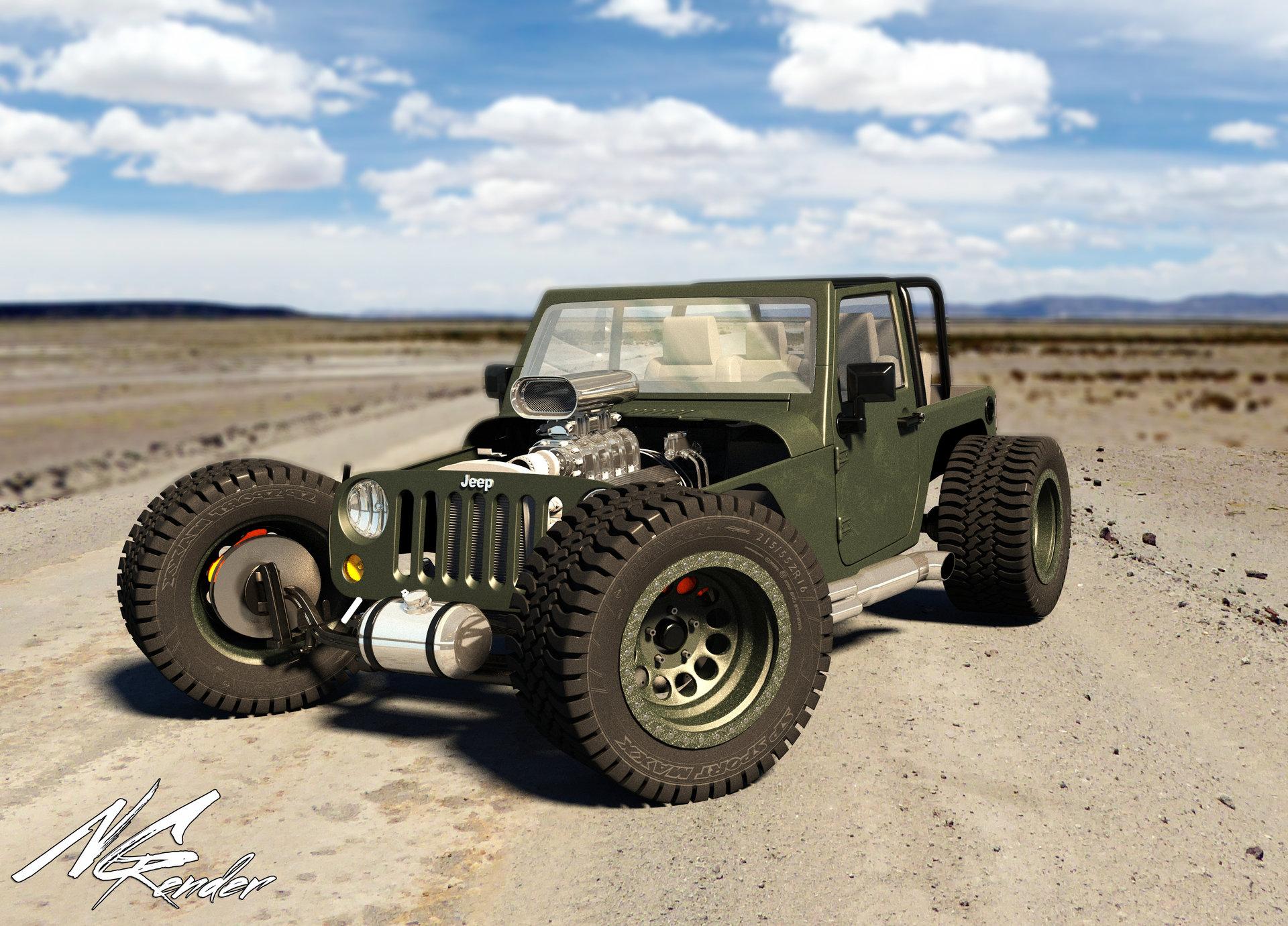 Nikita Grishechko Jeep Wrangler Hot Rod