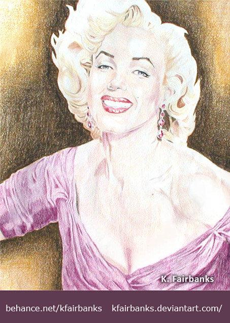 Marilyn Monroe pencil drawing