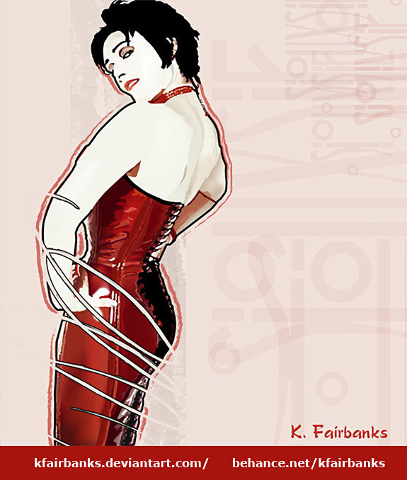 Siouxsie Sioux (vector drawing) by K. Fairbanks