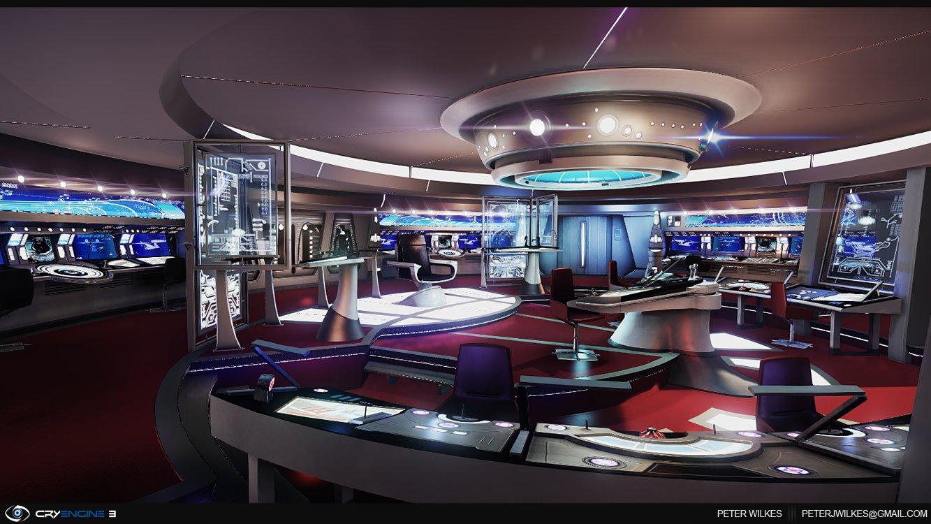 ArtStation - Star Trek Bridge - University, Peter Wilkes