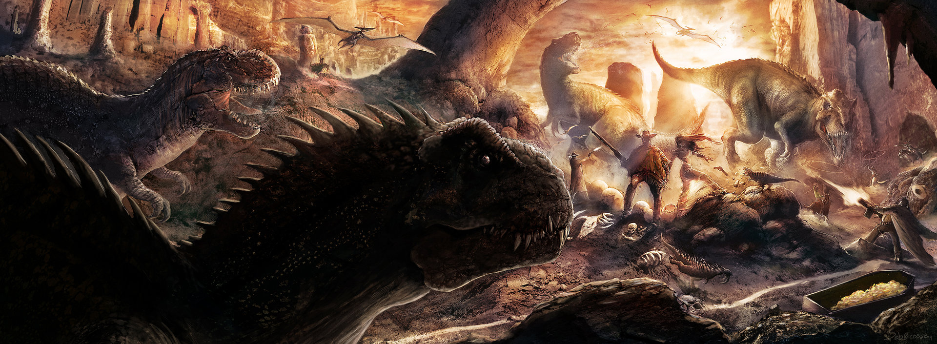 Sebastien ecosse corrected savage worlds deadlands cowboy western spaghetti dinosaurs gwangi book cover sebastien ecosse role playing game big res