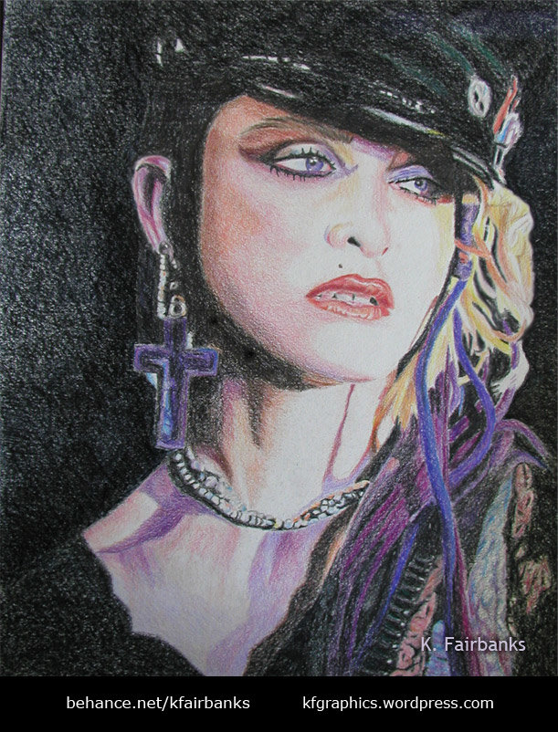 Madonna (pencil drawing) by K. Fairbanks