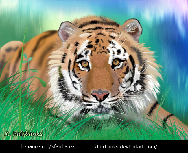 Tiger (digital painting) by K. Fairbanks