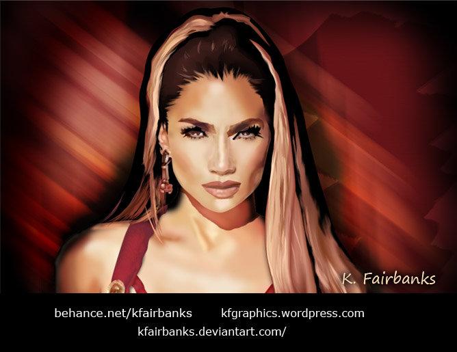 Jennifer Lopez (digital painting) by K. Fairbanks