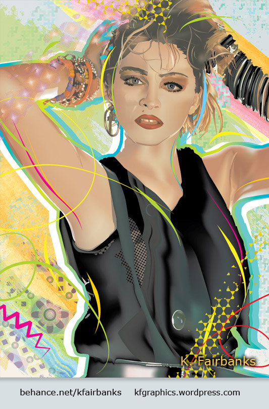 Vector drawing of Madonna by K. Fairbanks
