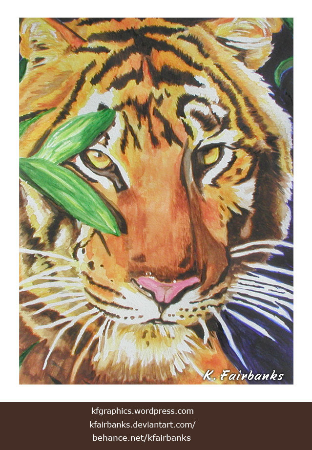 Tiger (painting) by K. Fairbanks
